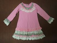Jelly The Pug liv & Monkey Collection Pink Dress 4t