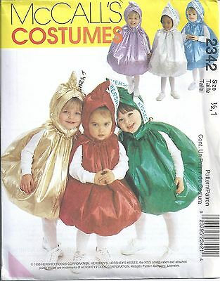 McCall's Sewing Pattern # 2342 Toddler's Hershey's Kisses Costume Size 1/2 -1