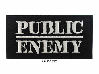 PUBLIC ENEMY Hip Hop Embroidered Iron On Patch SEW ON BADGE A748
