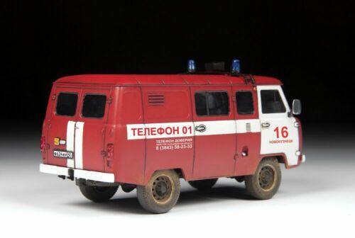 1:43 Zvezda #43001 Russia   Neu UAZ 3909 Fire Service USSR OVP !