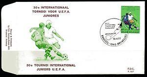 Belgium-obp-1851-UEFA-junior-tournament-FOOTBALL-1977-FDC-BRUSSEL