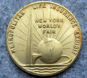 NEW-YORK-WORLD-039-S-FAIR-MEDALLION-METROPOLITAN-LIFE-INSURANCE-COMPANY-BRASS