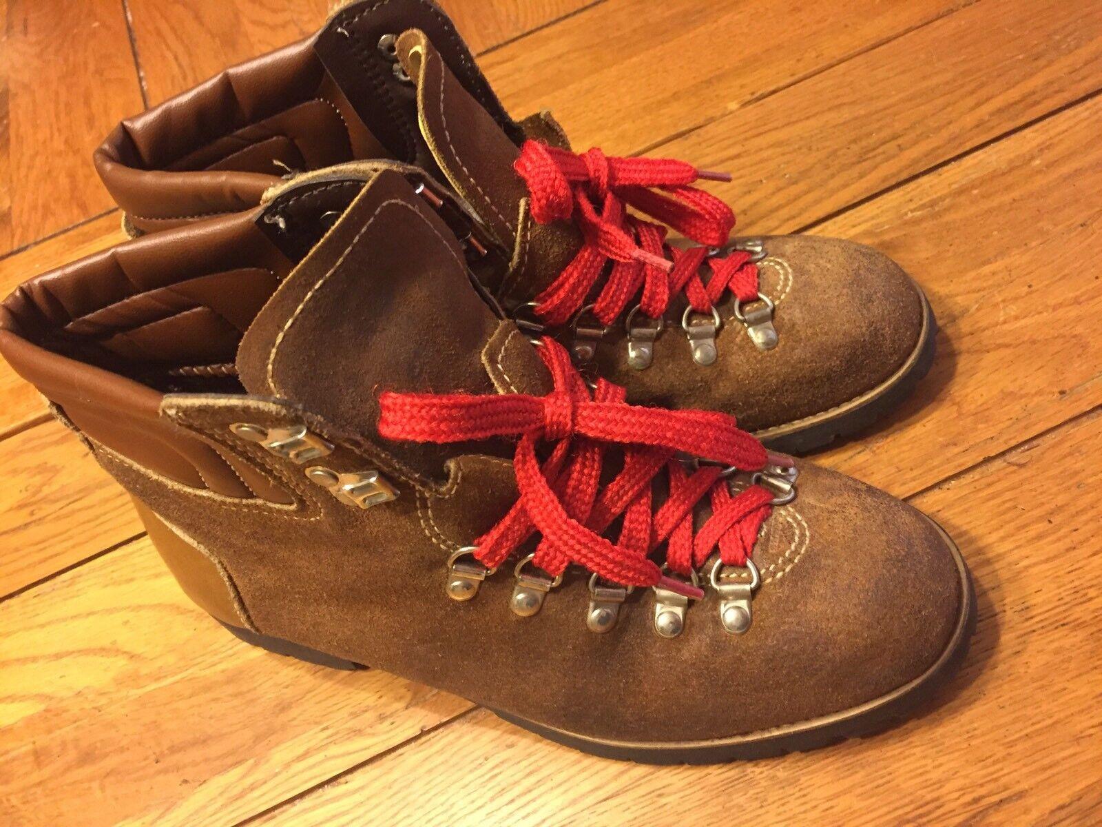 botas Para Excursionismo alpinista usado en excelente estado Sin Marca Para hombres Cuero Marrón M Vintage