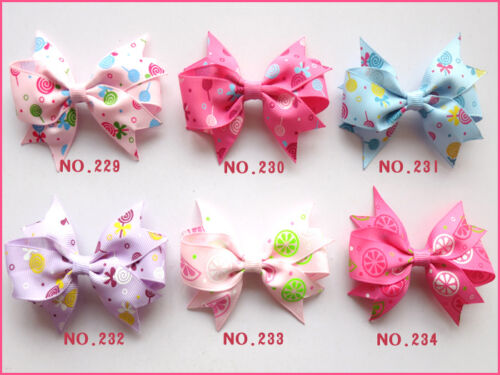 "100 BLESSING Good Girl Custom Boutique 3.5/"" Mermaid Hair Bow Clip #420 Wholesale"