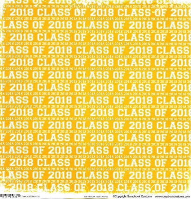 Class Of 2018 Scarlett Red Cardstock Scrapbook Paper Ebay