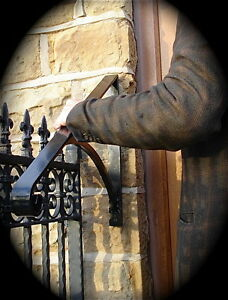 Image Is Loading Wrought Iron Metal Stair Handrail Ornamental Grab Rail