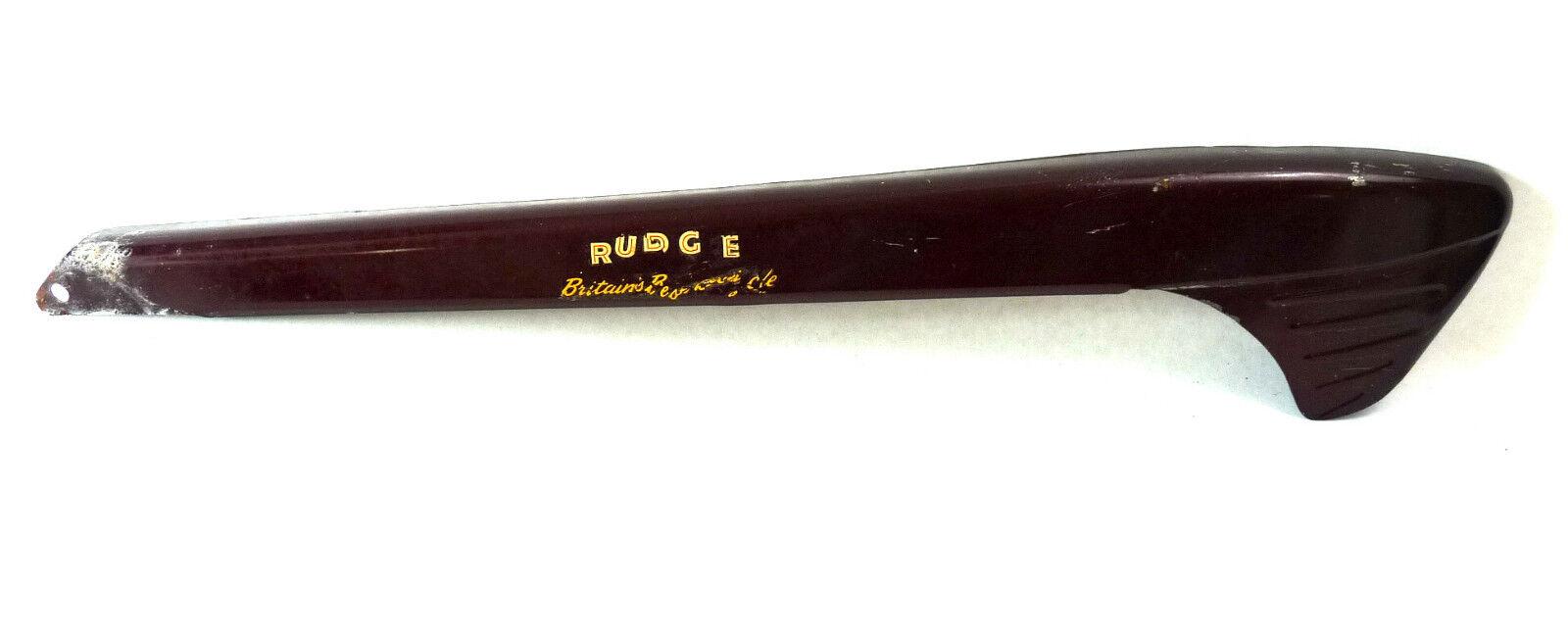 NOS Rudge chainguard chain predector dark red maroon burgundy 2