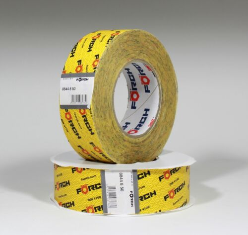 2x Förch System-Klebeband gelb 50mm Dampfsperre Folie OSB Dampfbremse Luftdicht