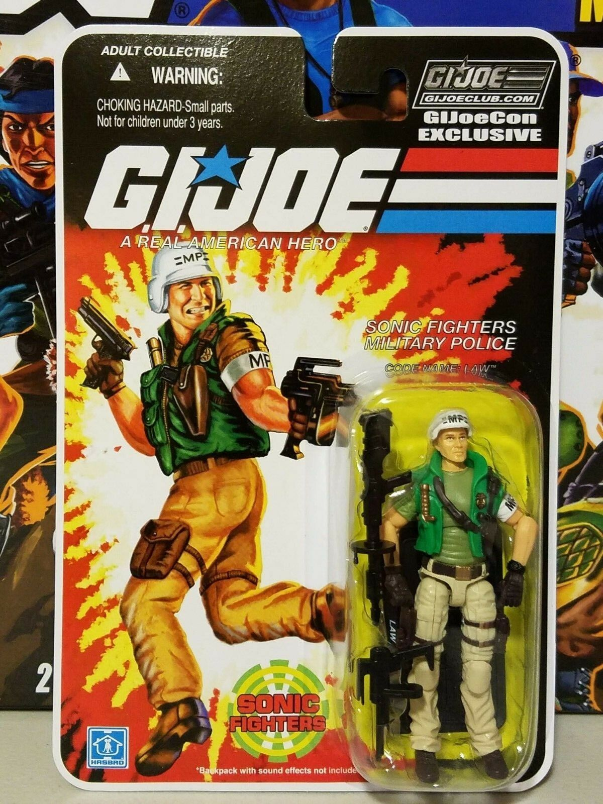 GI Joe Convention 2018 JoeCon Sonic Fighters Military Police Law NEW SEALED
