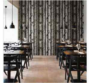 Image Is Loading WALLPAPER FEATURE WALL PAPER TREE BARK WOOD PANELS