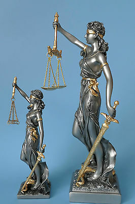Bronze Figur Justitia Göttin des Rechtwesen auf edlem Marmorsockel 1926