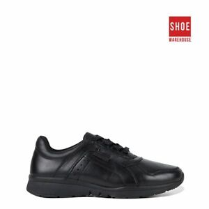 Hush Puppies EVERYDAY WALKER Black Womens Low Sport/Athletic Leather Shoes
