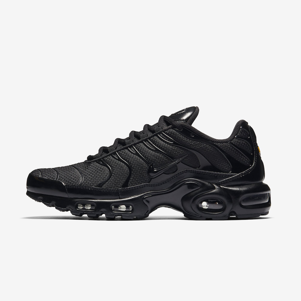 NIKE AIR MAX PLUS 604133-050 TRIPLE BLACK TUNED AIR TN 97 98 VAPORMAX