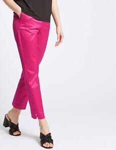 Unter Der Voraussetzung M&s Per Una Cotton Rich Slim Leg Ankle Grazer Trousers Prp £39.50