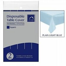 DISPOSABLE PLASTIC SQUARE TABLECOVER TABLECLOTH BIRTHDAY/WEDDING/CHRISTMAS PARTY