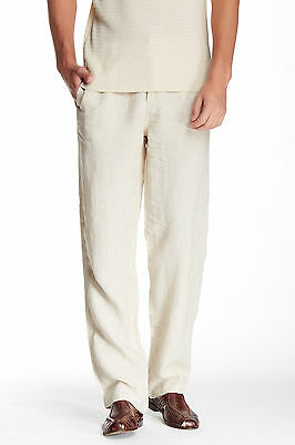 TOMMY BAHAMA LINE OF THE TIMES STRIPED LINEN PANTS ROPE MENS SIZE SMALL NEW