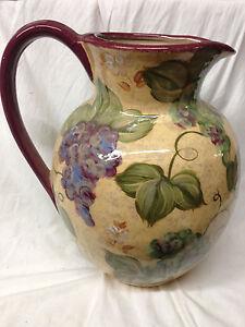 Lesal Ceramics Caesars Casino Large Decorative Pitcher 12