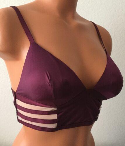 New Victoria/'s  Secret Medium Body Burgundy Lightly Lined Bralette  #4312