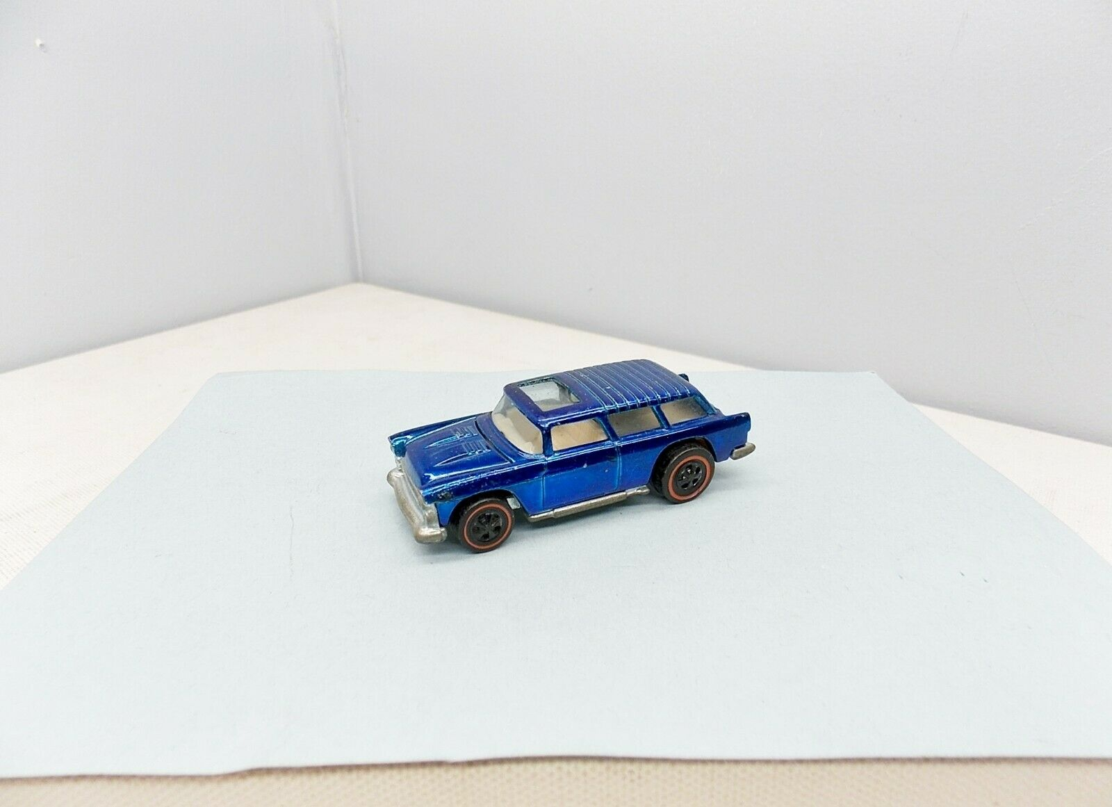 Hot Wheels Classic Nomad - blu - EXCELLENT - Vintage Chevy rossoline