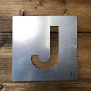 éNergique Galvanisé Métal Scrabble Lettre Tuile Wall Decor Art Lettrage Personnalisé J-afficher Le Titre D'origine