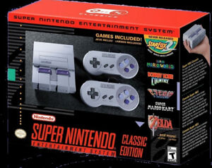 Super Nintendo Classic Edition With 21 Games Loaded New Quick
