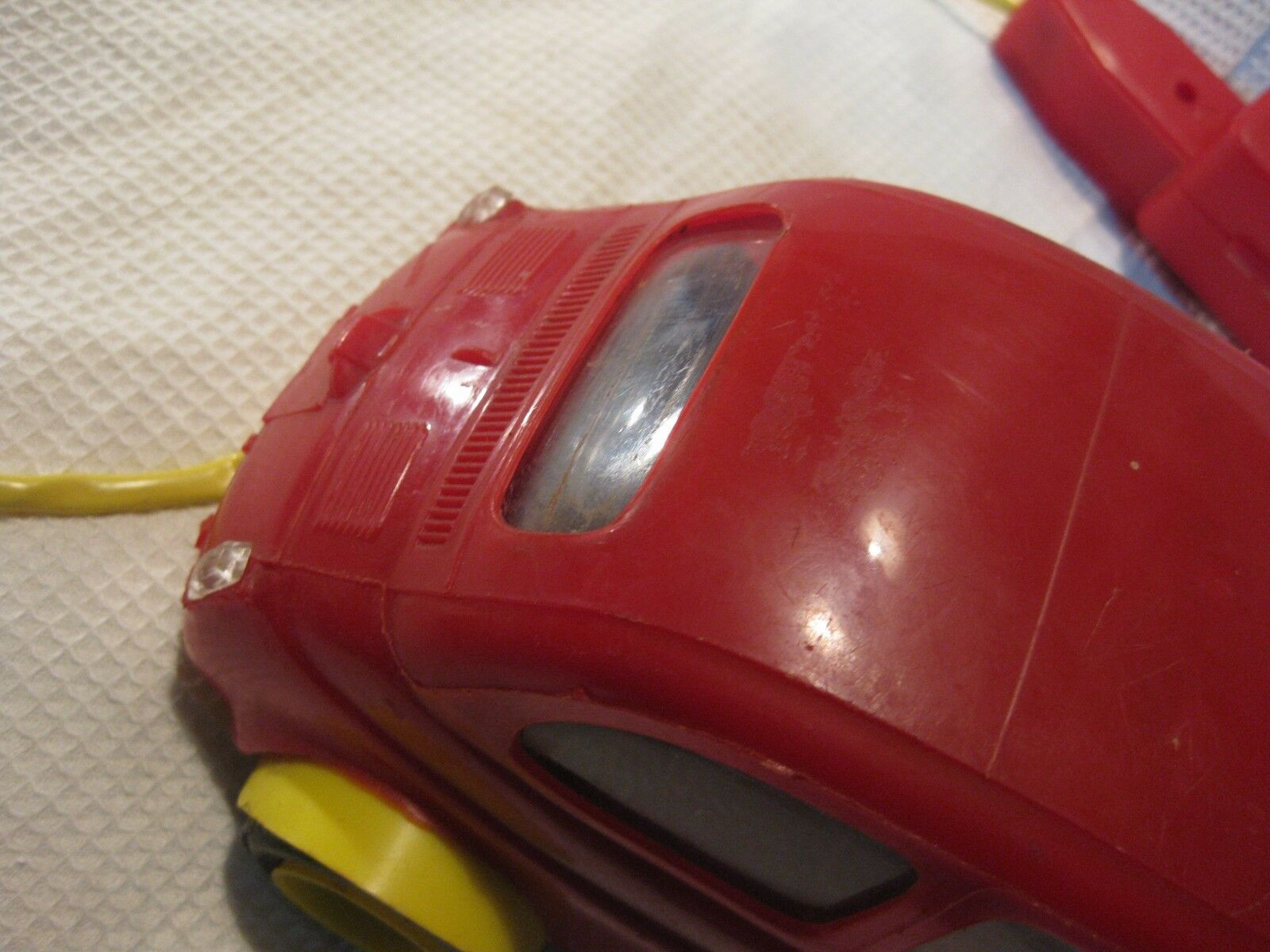 VINTAGE  PLASTIC PLASTIC PLASTIC  CAR battery operated POCHER ITALY 60215f