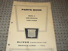 Oliver White Tractor Model 6 Corn Picker Dealers Parts Book