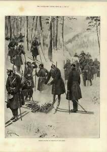 1897 German Infantry At Exercise On Snowshoes - Jarrow, United Kingdom - 1897 German Infantry At Exercise On Snowshoes - Jarrow, United Kingdom