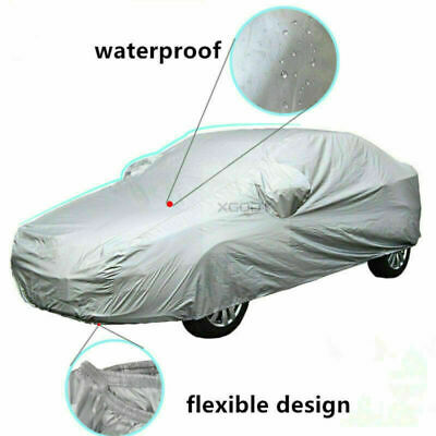 Size L Universal Full Car Cover Aganist UV Rain Resistant Snow Dust Waterproof