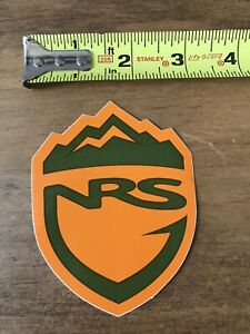 NRS Whitewater Kayak STICKER Decal Red
