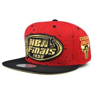 Chicago Bulls Mitchell   Ness MIST GOLD NBA Finals 1998 Snapback ... 76875148717