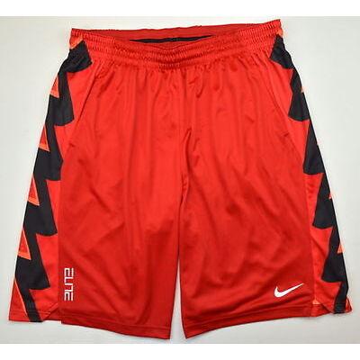 NIKE MEN'S ELITE BOLT GRAPHIC BASKETBALL SHORTS SZ XXL 2XL 682989 657 RED BLACK