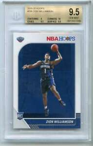 Zion-Williamson-Rookie-Card-2019-20-Hoops-258-Pelicans-BGS-9-5-9-10-9-5-9-5