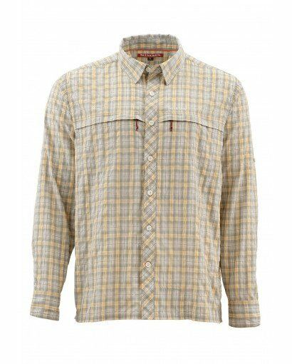 Simms Stone Cold LS Shirt  - Sandstone Plaid -- Free US Shipping  sale outlet