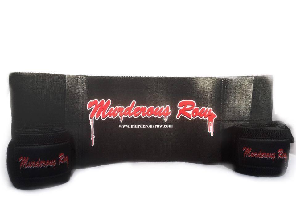 Murderous Row Hardcore Bench Press Set - SLING  SHOT + HARDCORE WRIST WRAPS  clients first reputation first