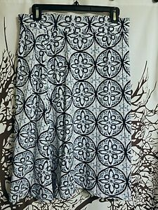 Cato-brand-blue-and-white-print-skirt-women-039-s-size-medium