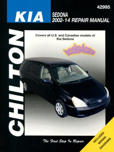 SHOP MANUAL SEDONA SERVICE REPAIR KIA CHILTON BOOK HAYNES