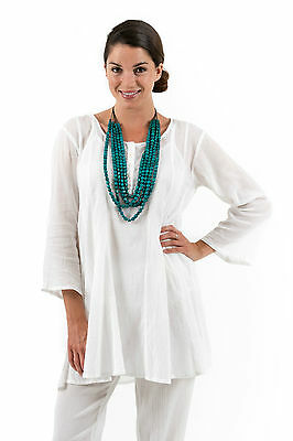New Spirituelle Crinkle Gauze Cotton Swing Top , A great beach cover-up S - 3XL