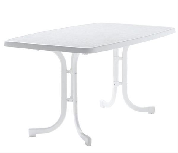 SIEGER Gartentisch Klappbar 150 X 90 Cm weiß Stahl | eBay