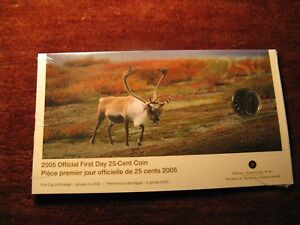 Canada-2005-First-Day-Cover-25-Cent-Coin-In-Rcm-Pack