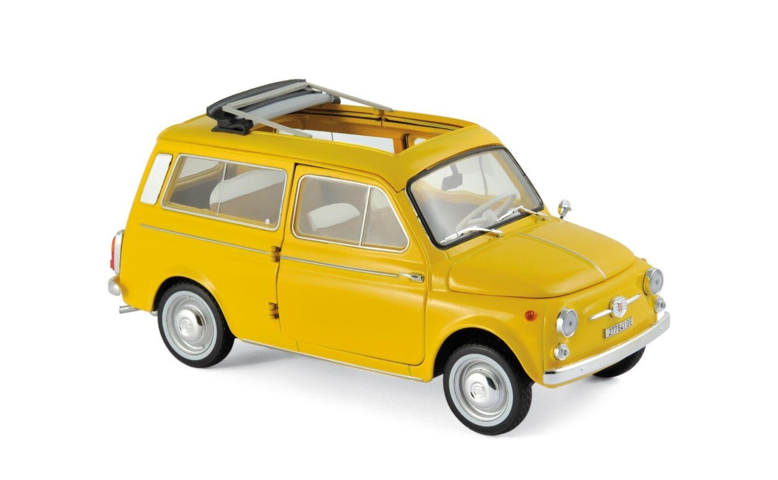 Fiat 500 Giardiniera 1968 jaune 1 18 Norev 187724 NOUVEAU & NEUF dans sa boîte