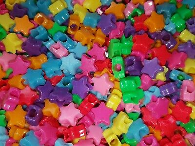 50 x Opaque Butterfly Pony Beads *3 FOR 2* Mixed Colours