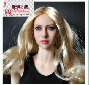 1//6 Female Blond Pâle Head Sculpt pour PHicen OB UD tbleagure Figure Body