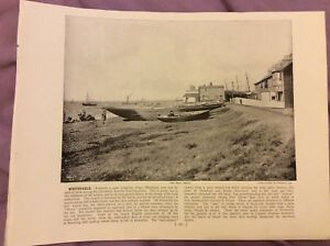 Antique-Book-Print-Sidmouth-OR-Bridport-UK-c-1895