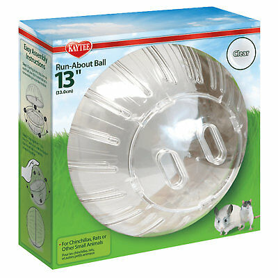 """Kaytee Clear Mega Run-About Exercise Ball for Small Animals, 13"""""""