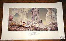 YES Relayer ART PRINT ~ mano firmata da Jon Anderson ~ PIASTRA firmata da ROGER DEAN