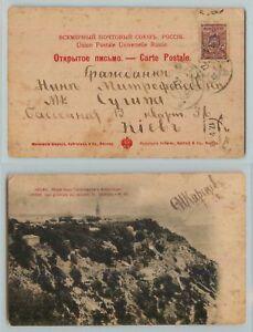 Ukraine-1918-post-card-used-f8032