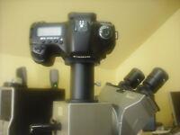 Canon Rebel Camera Adapter + Olympus Microscope Trinocular Tube 4 U-cmad3 Abcx