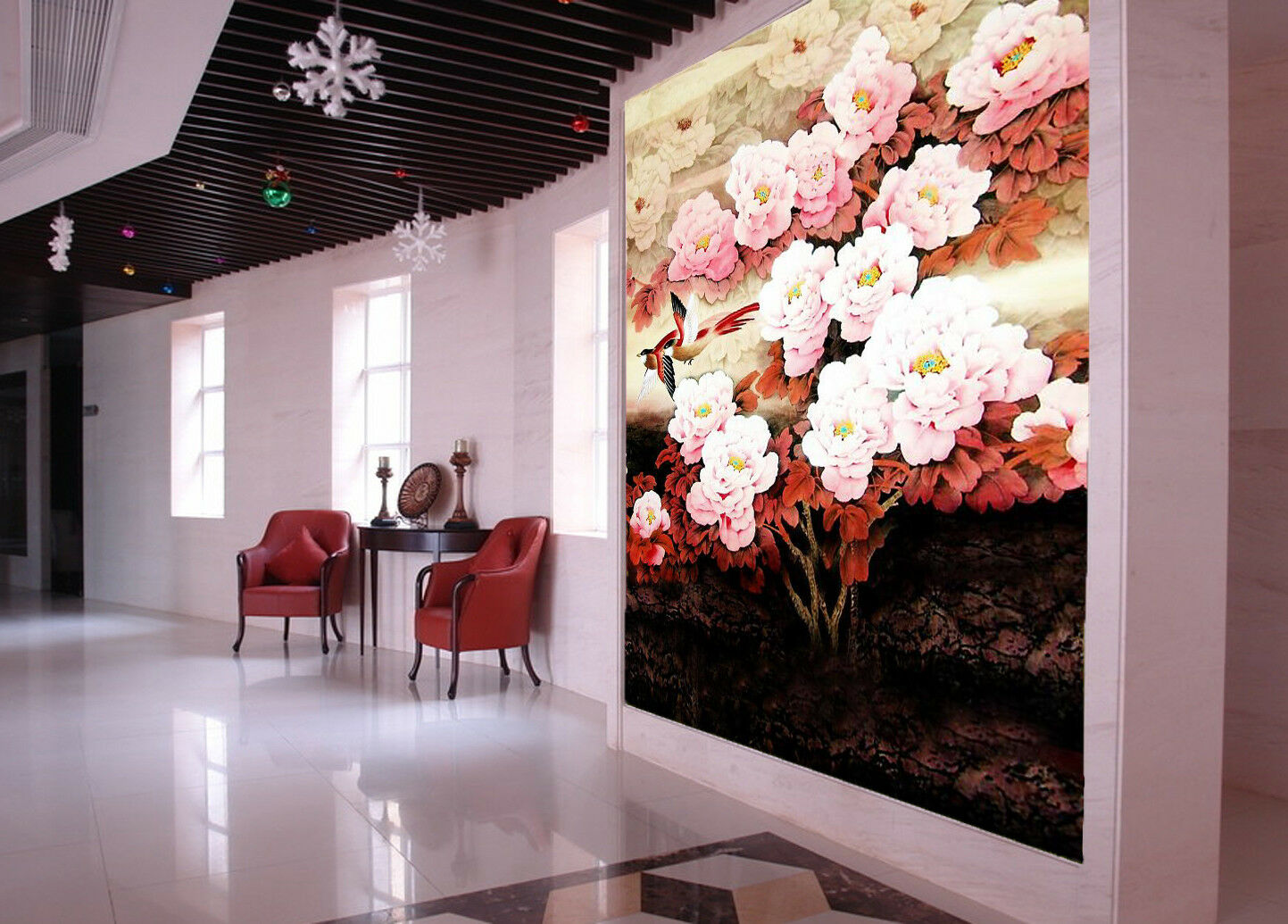 3D Bloom Flowers 4 Wallpaper Murals Wall Print Wallpaper Mural AJ WALL AU Lemon