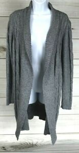 Maurices-Women-039-s-Cardigan-Sweater-Thick-Knit-Size-Medium-Gray-Cotton-Blend-A0318